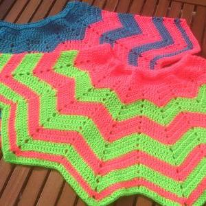 Crochet Pattern Only - Chevron Mini..