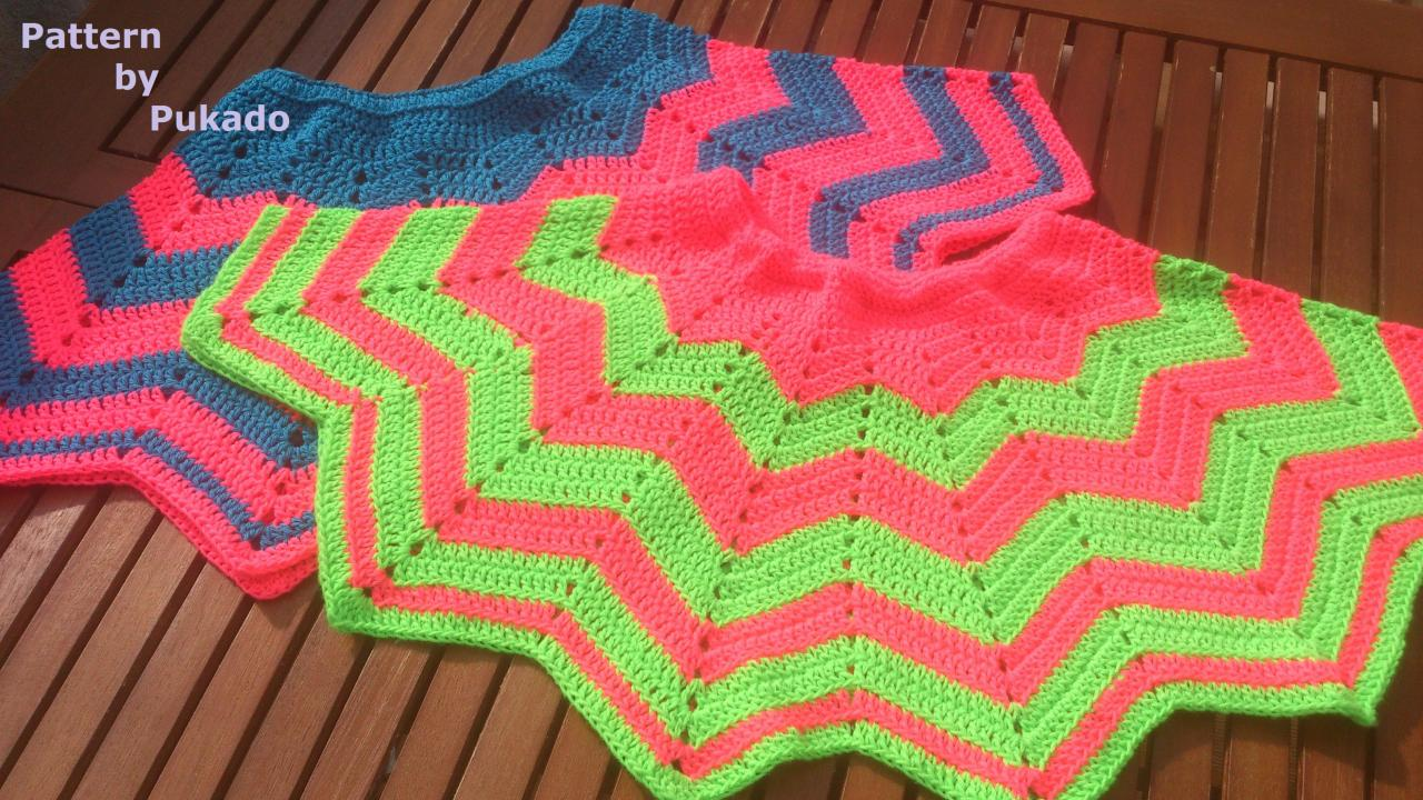 Crochet Pattern Only - Chevron Mini Skirt - girl or woman