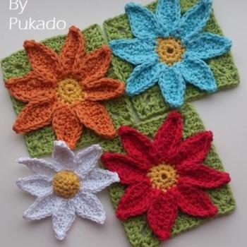 PATTERN ONLY - Easy Daisy Flower Pattern and Granny Square Daisy Pattern - DIY
